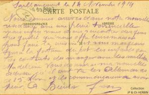 Carte postale 14 novembre 1914b