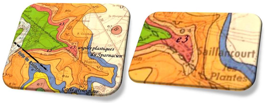 Carte géologique de Saillancourt