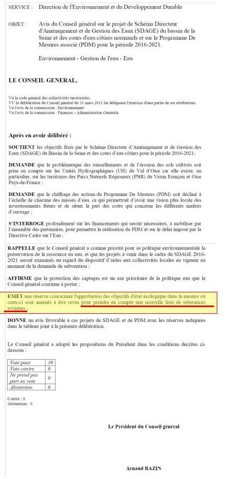 Délibération du Conseil Général du 13 février 2015 (2)