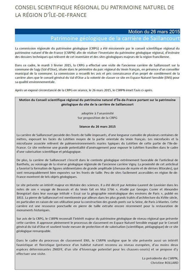 CSRPN ile de France