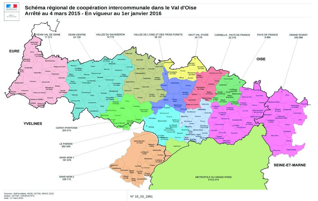 Schéma régional de coopération intercommunale dans le Val d'Oise
