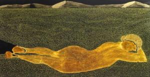 "L'artiste Guillaume Bourquin expose ses ""peintures ecrites"""