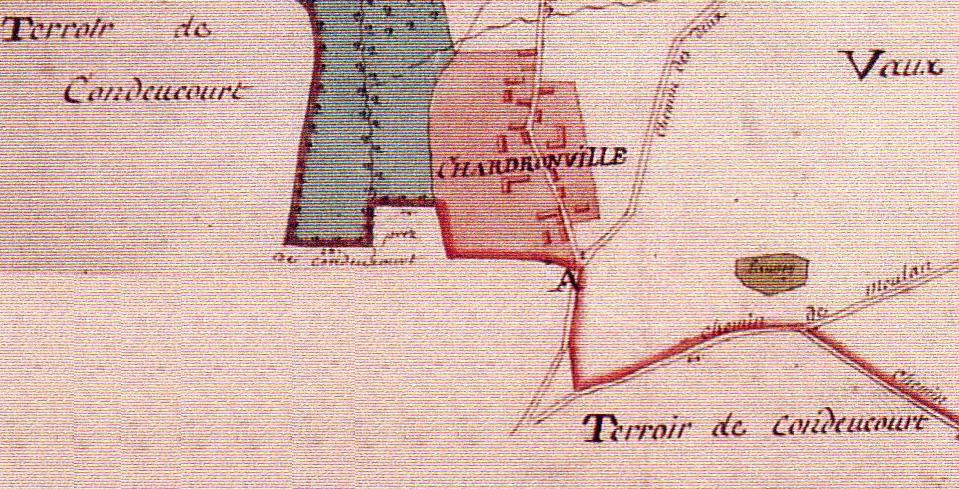 Chardronvillle - Plan Terrier de Sagy 1815