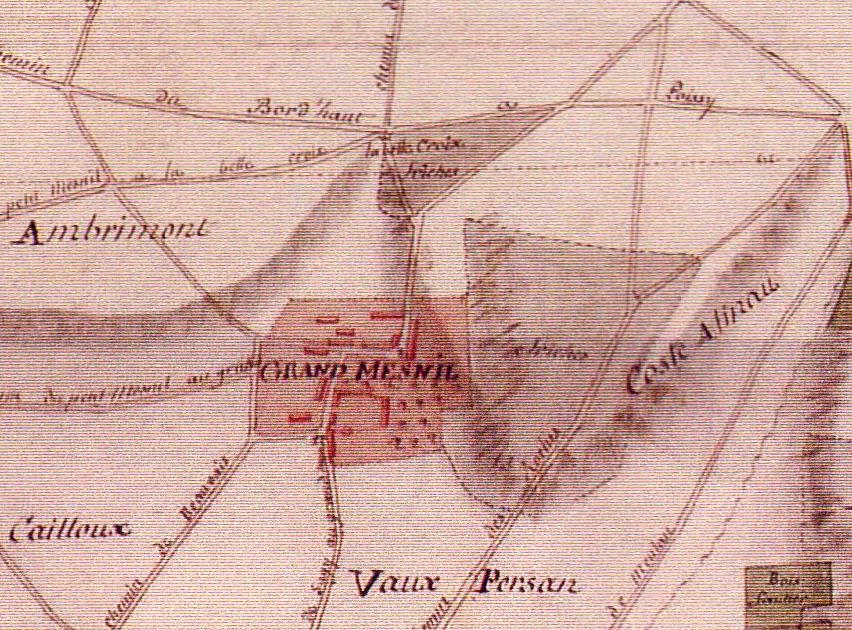 Grand Mesnil - Plan Terrier de Sagy 1815