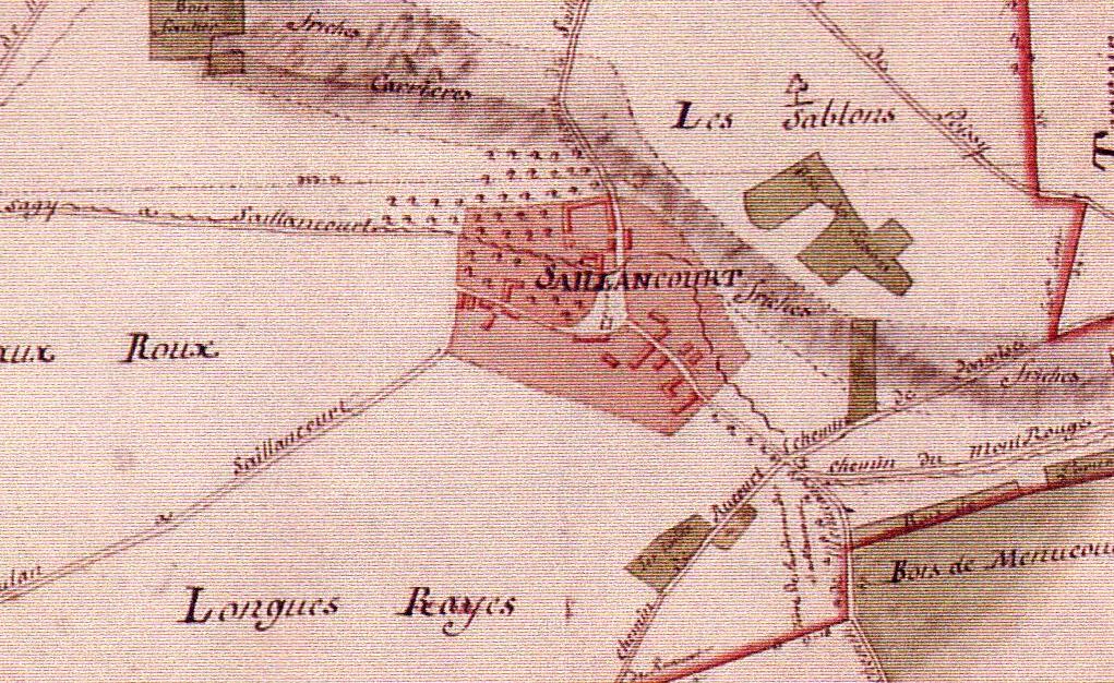 Saillancourt - Plan Terrier de Sagy 1815